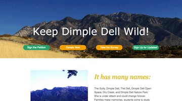 Keep dimple dell wild